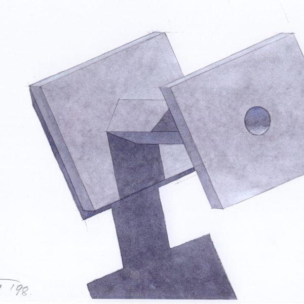 Metallia - Cadmo design Ettore Sottsass Candelabro