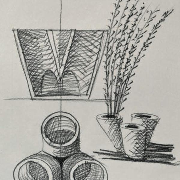 Vaso Dieci Mario Botta - Tredicivasi disegno