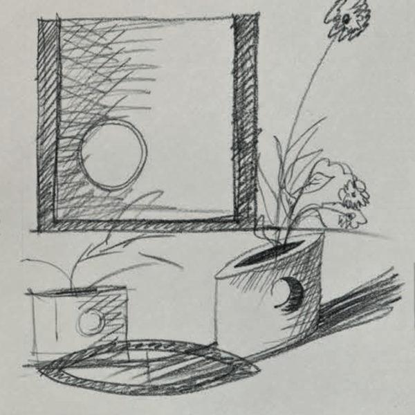 Vaso Dodici Mario Botta - Tredicivasi disegno