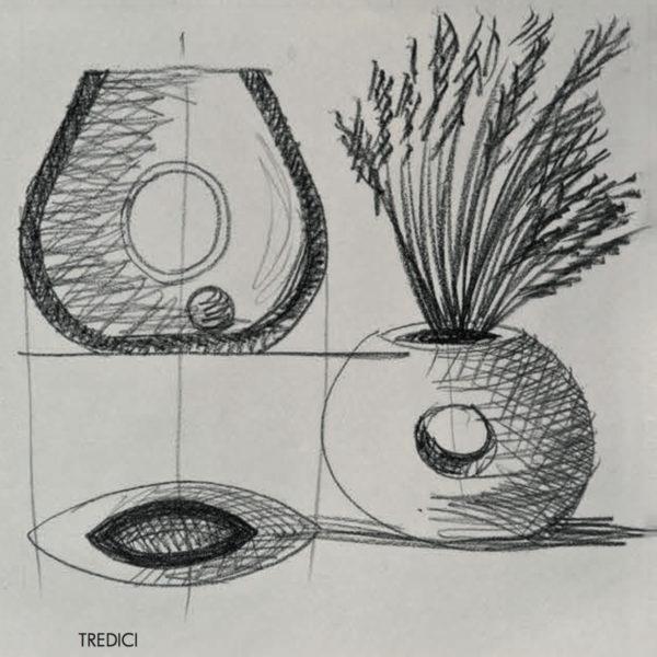 Vaso Tredici Mario Botta - Tredicivasi disegno