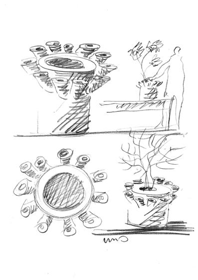 Vaso Uno Mario Botta - Tredicivasi disegno