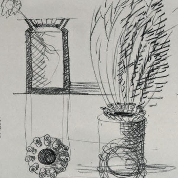 Vaso Due Mario Botta - Tredicivasi disegno