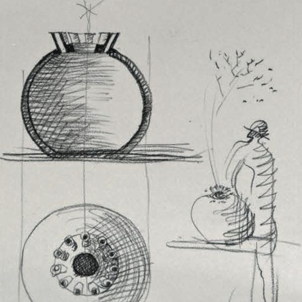 Vaso Tre Mario Botta - Tredicivasi disegno