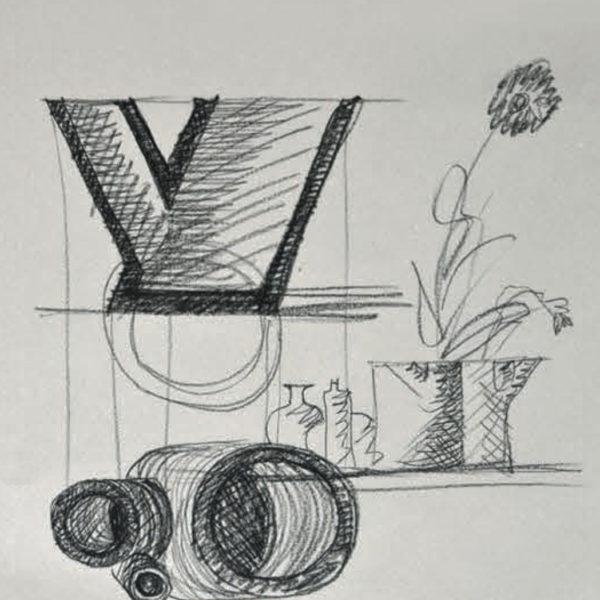 Vaso Quattro Mario Botta - Tredicivasi disegno