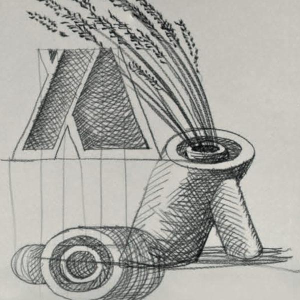 Vaso Sei Mario Botta - Tredicivasi disegno