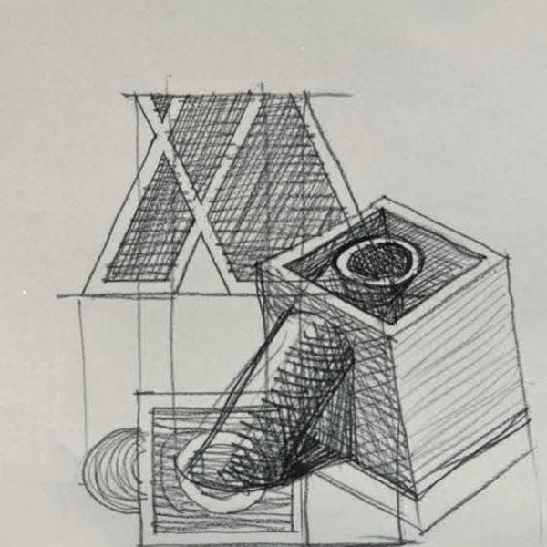 Vaso Sette Mario Botta - Tredicivasi disegno
