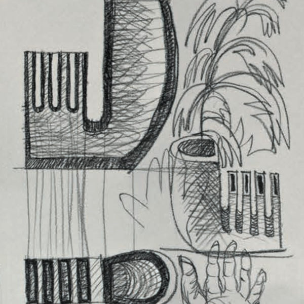 Vaso Otto Mario Botta - Tredicivasi disegno
