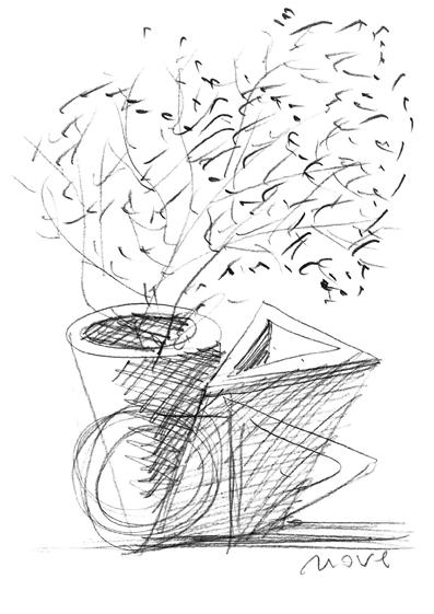 Vaso Nove Mario Botta - Tredicivasi disegno